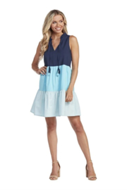 Mud Pie  Color Blocked Tiered Dress - Product Mini Image