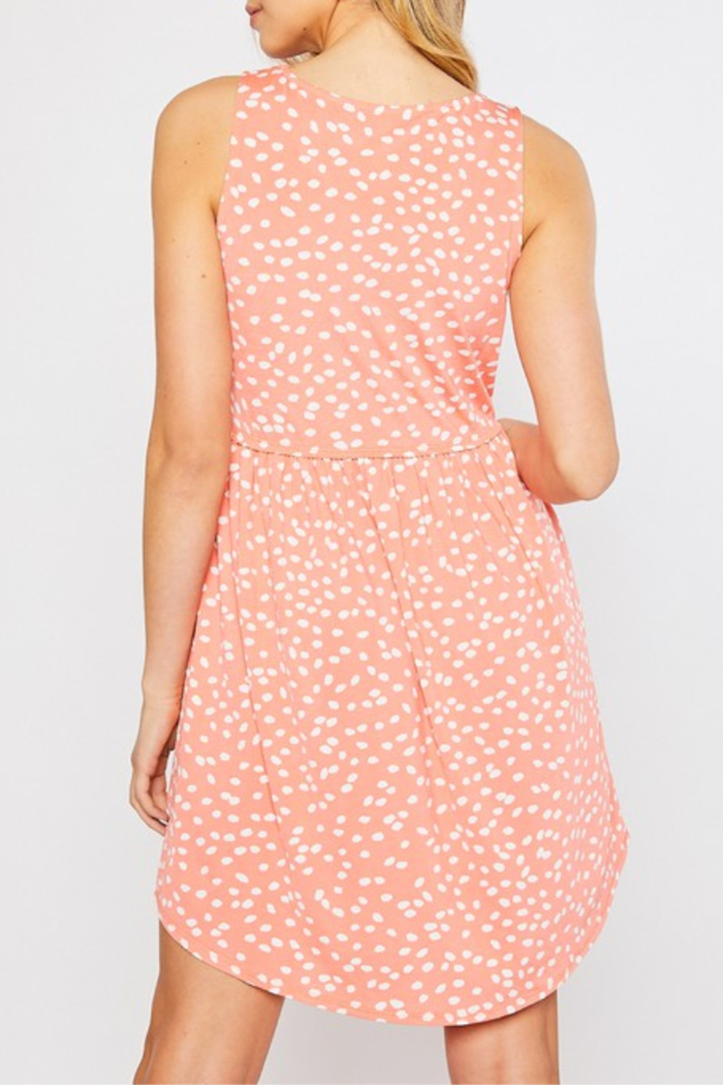 Mittoshop Color Me Coral Dress - Front Full Image