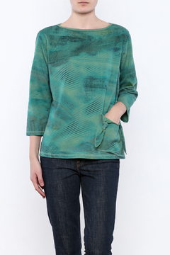 Shoptiques Product: Tie Pocket Aqua Top