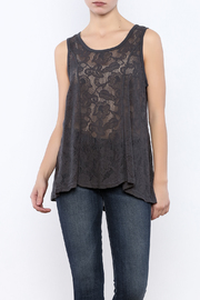 Color Me Cotton Gray Lace Tank - Product Mini Image