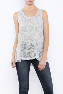 Shoptiques Product: Light Gray Lace Tank