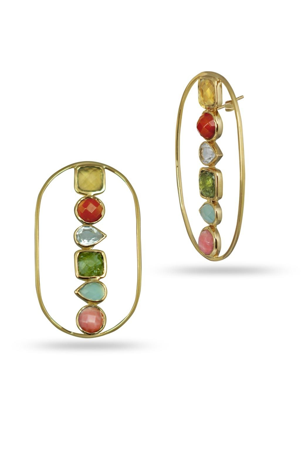Jaimie Nicole Color Stone Earrings - Front Full Image
