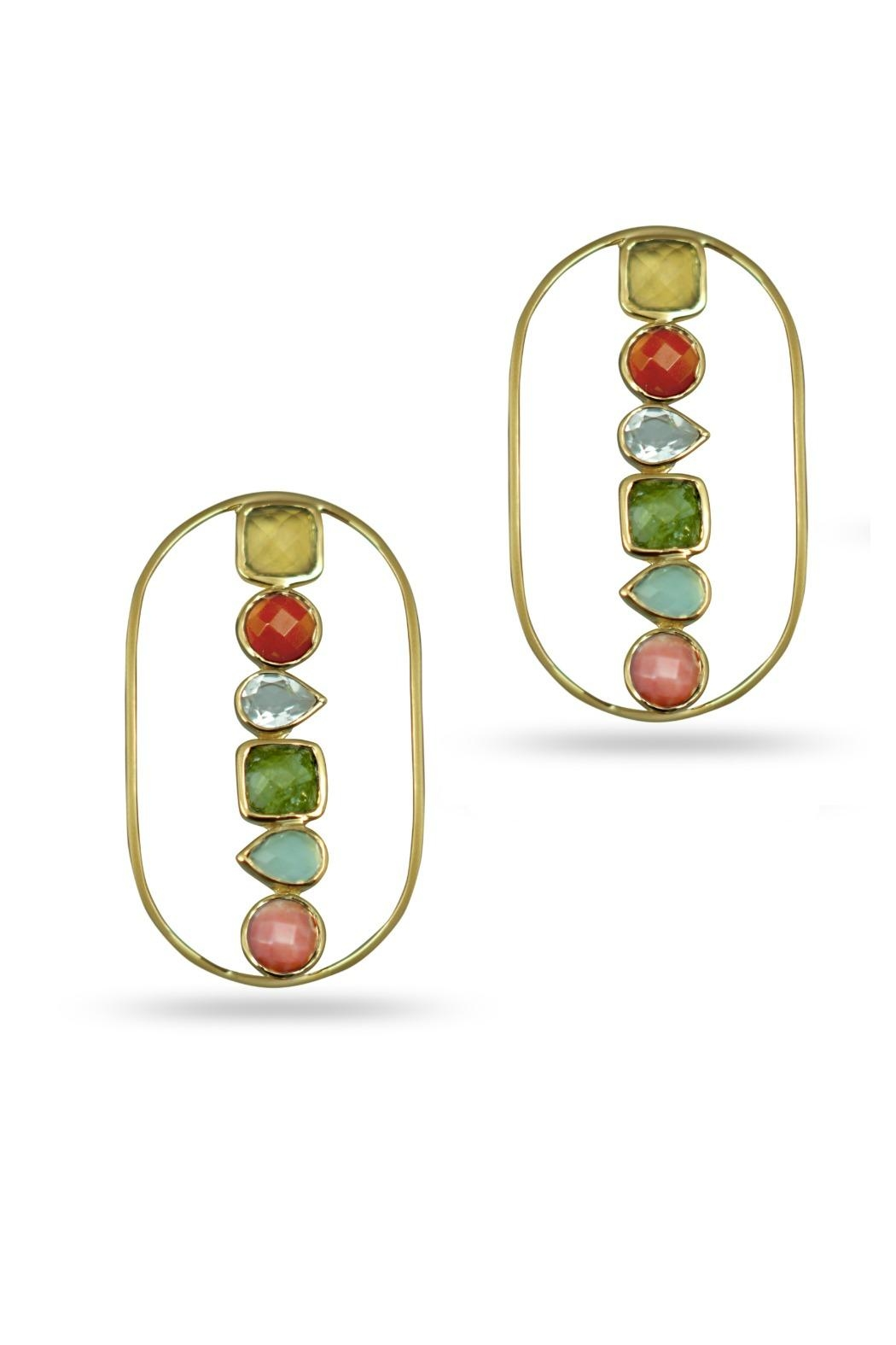 Jaimie Nicole Color Stone Earrings - Front Cropped Image