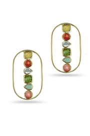 Jaimie Nicole Color Stone Earrings - Front cropped