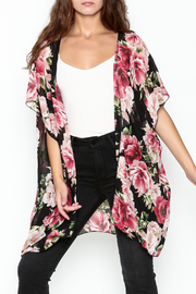 Color Swatch Floral Kimono - Product Mini Image