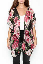 Color Swatch Floral Kimono - Front full body