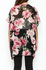 Color Swatch Floral Kimono - Back cropped