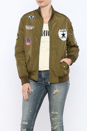Color Swatch Olive Bomber Jacket - Product Mini Image