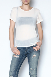 Color Thread Boxy Mesh Top - Front cropped