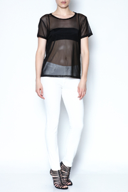 Color Thread Boxy Mesh Top - Side cropped