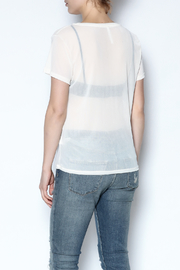 Color Thread Boxy Mesh Top - Back cropped