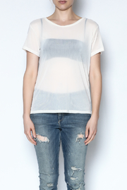 Color Thread Boxy Mesh Top - Front full body