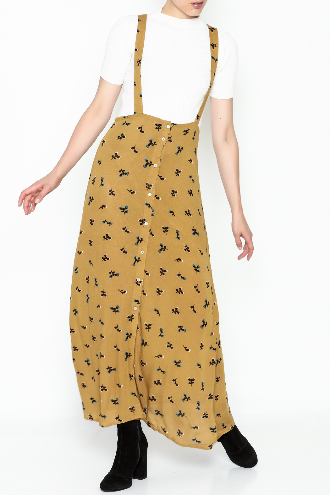 Color Thread Overall Maxi Skirt - Main Image