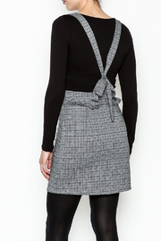 Color Thread Plaid Suspender Skirt - Back cropped