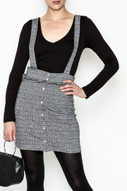 Color Thread Plaid Suspender Skirt - Product Mini Image