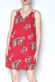 Color Thread Red Floral Dress - Product Mini Image
