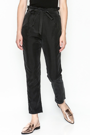 Color Thread Ruffle Waist Pants - Front cropped