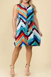 Lux Clothing Color Washed Dress - Front cropped