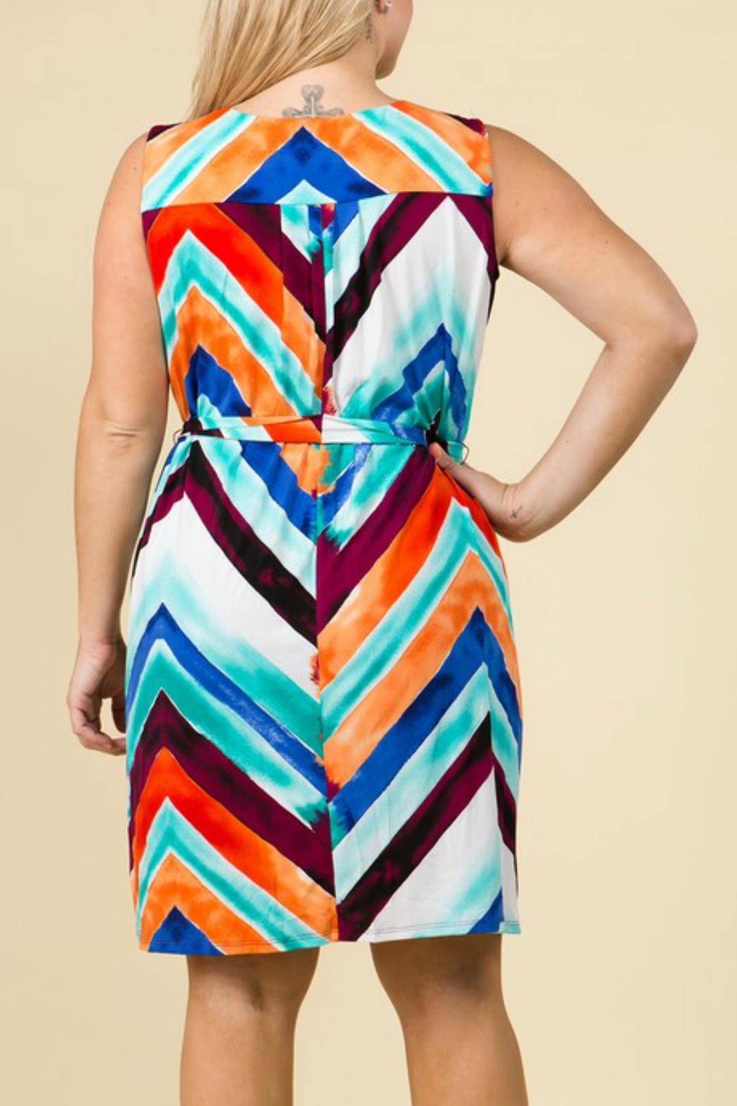 Lux Clothing Color Washed Dress - Front Full Image