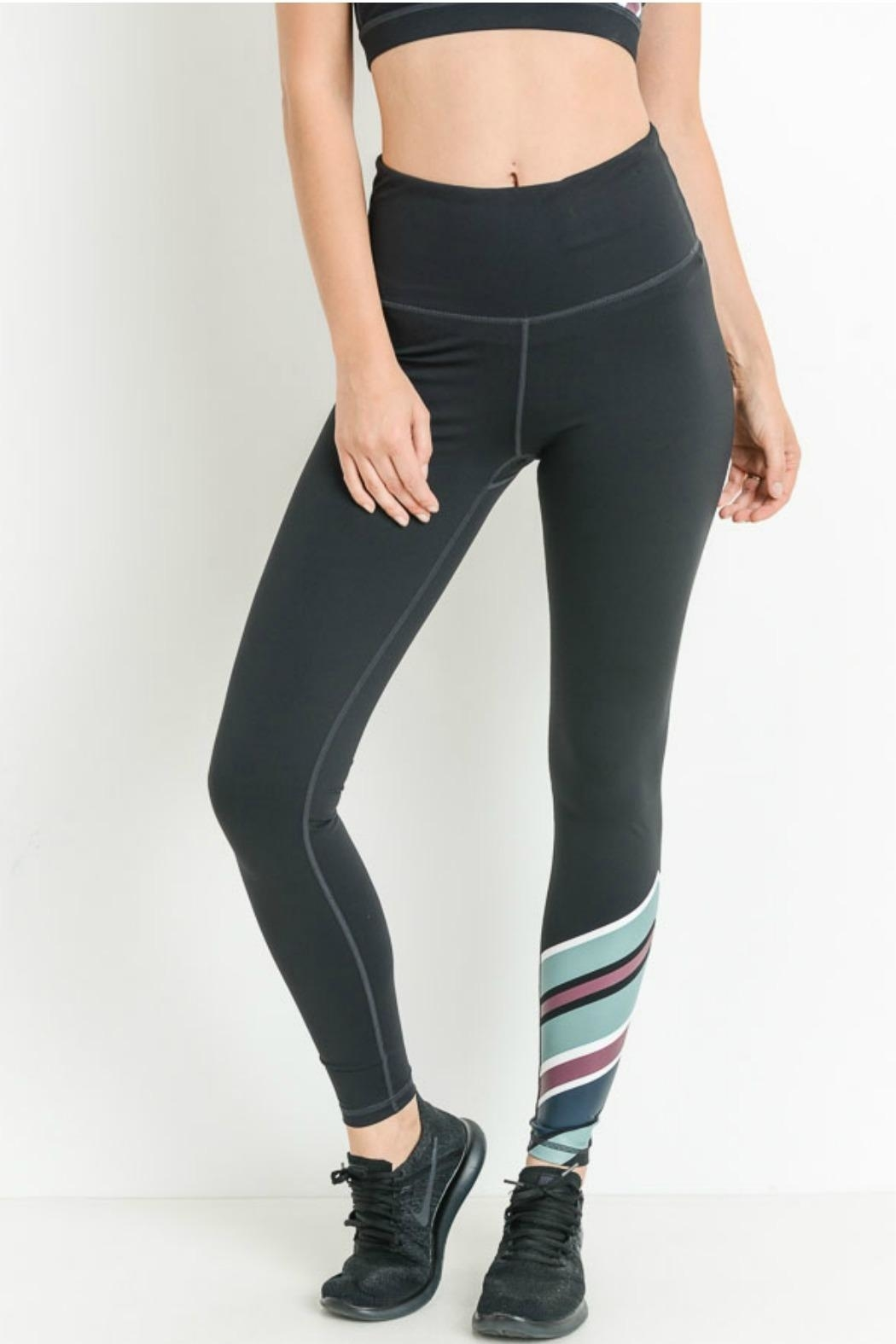 Mono B Color Wrap Legging - Front Cropped Image
