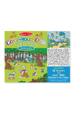 Melissa and Doug Color-Your-Own Sticker Pad:  Animals - Product List Image