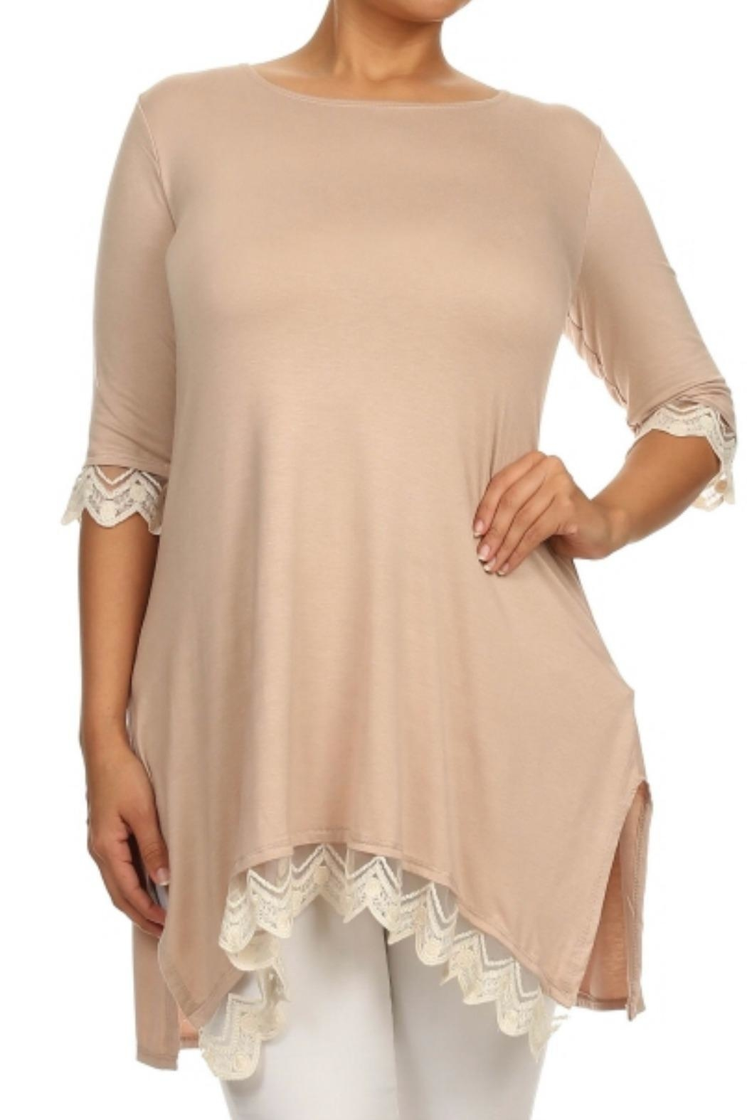 Color 5 Asymmetric Tunic - Front Cropped Image