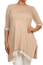 Color 5 Asymmetric Tunic - Front cropped