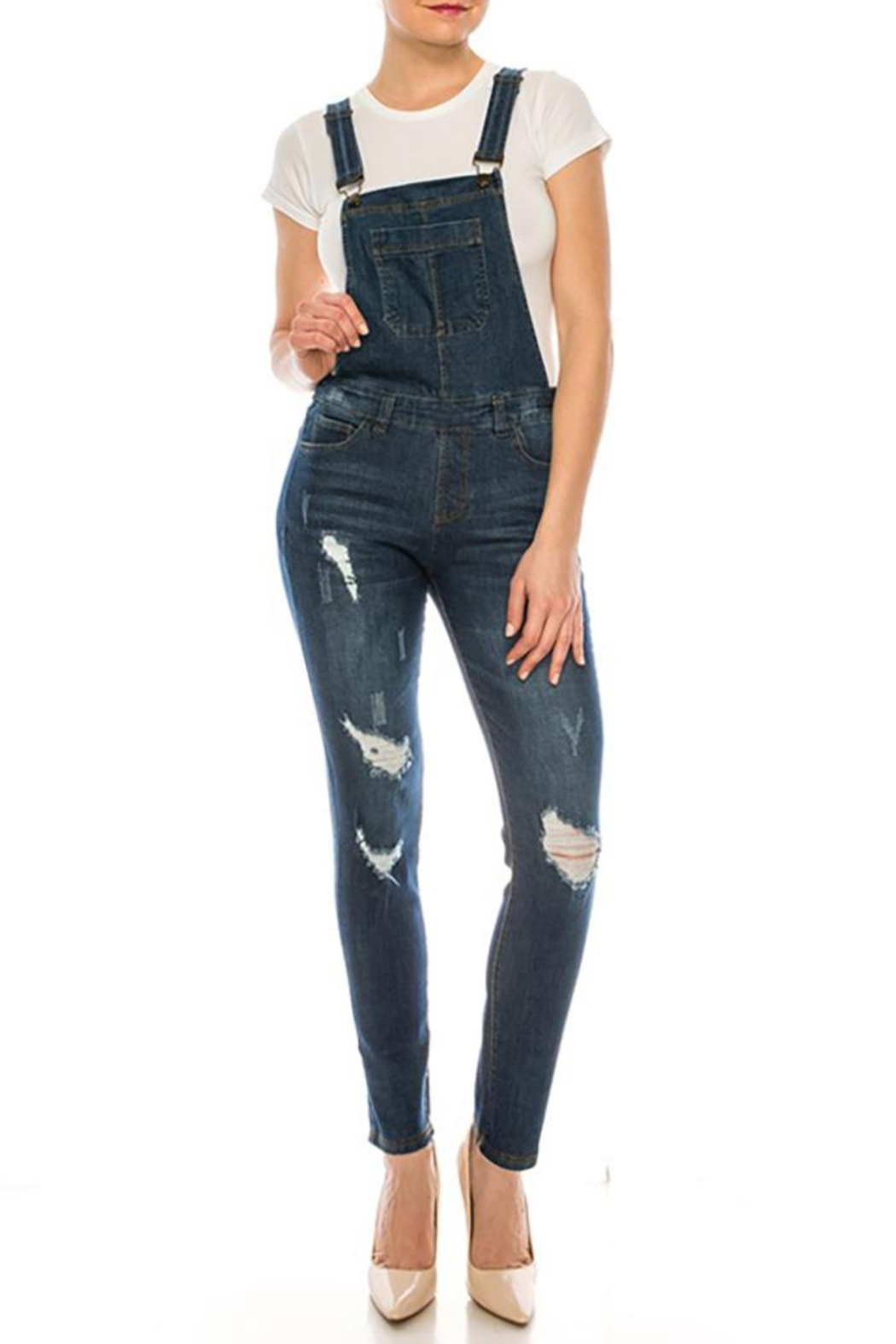 Color 5 Baggy Denim Overalls Jumpsuit Harem Pants - Main Image