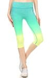 Color 5 Capri Athletic Leggings - Product Mini Image