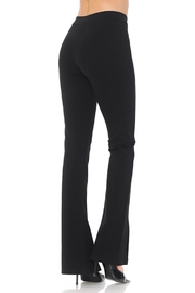 Color 5 Fashion Slashed Flare Pants - Front full body