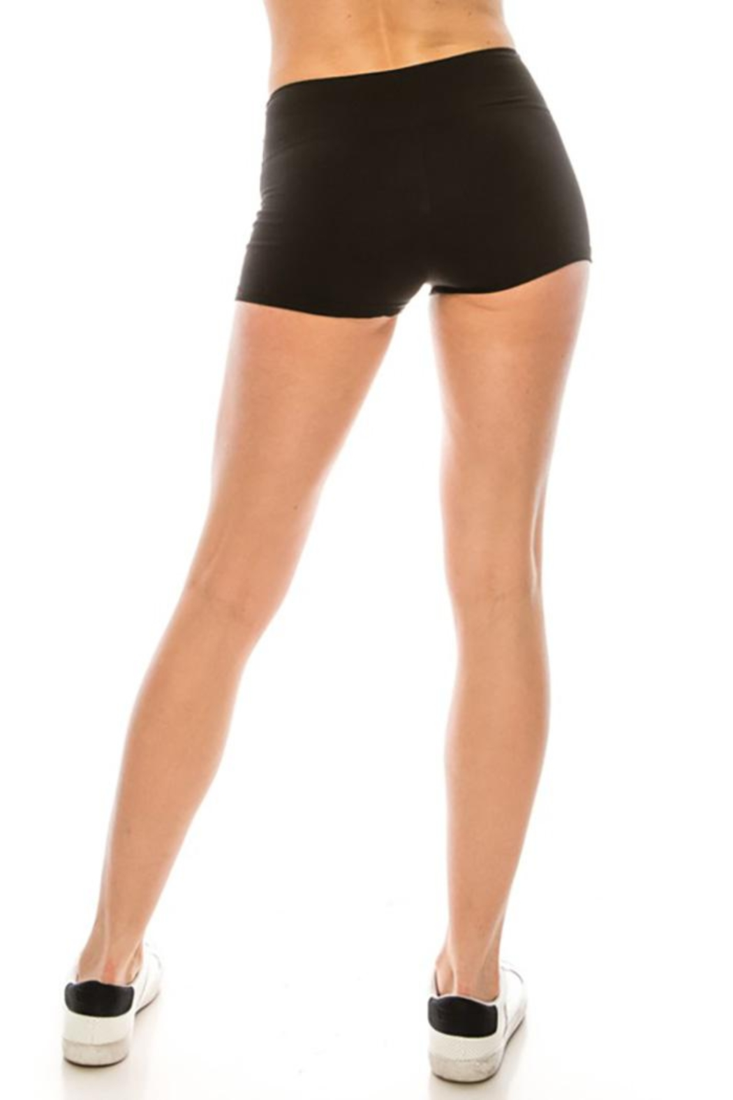 Color 5 High Waist Mini Shorts - Front Full Image