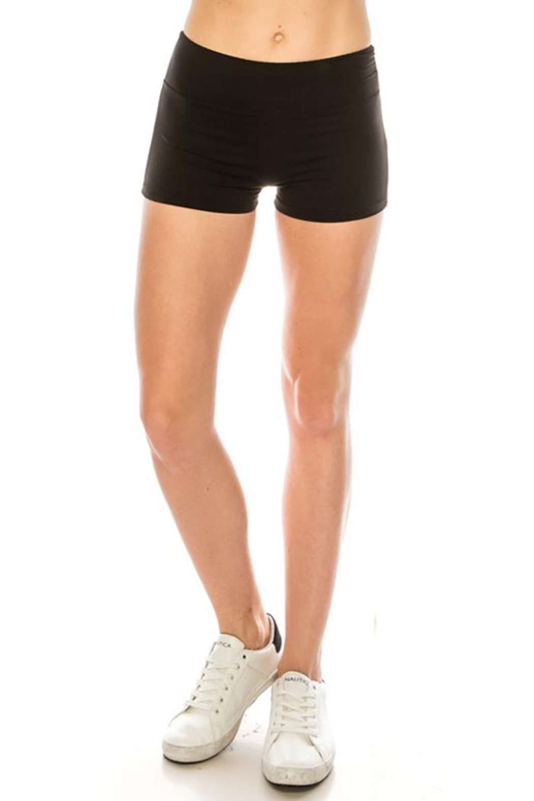 Color 5 High Waist Mini Shorts - Side Cropped Image