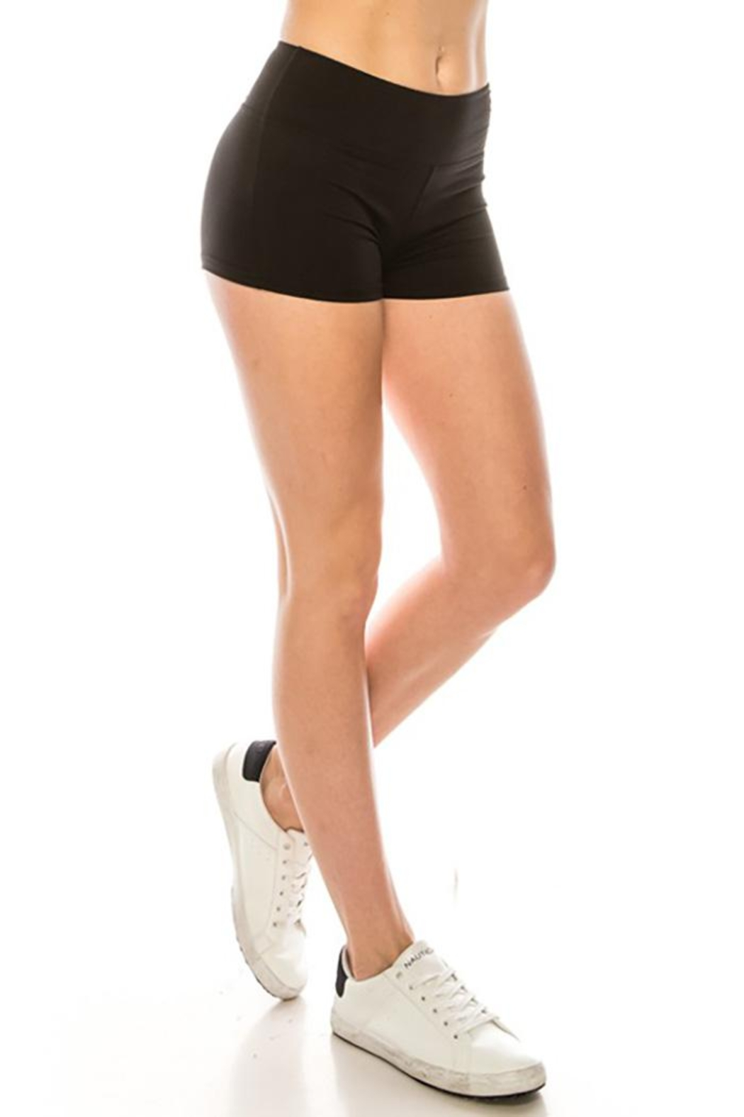 Color 5 High Waist Mini Shorts - Front Cropped Image