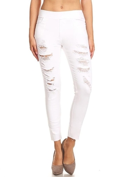 Shoptiques Product: High Waisted Denim Jegging
