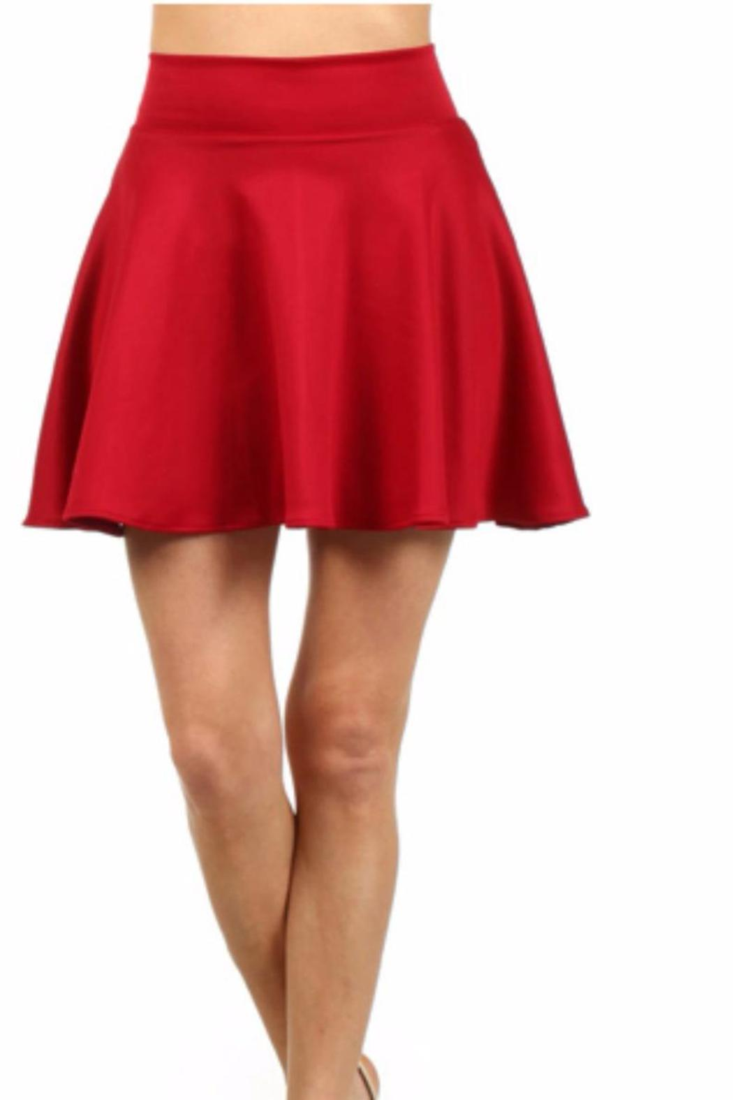 5c2e51f1 Color 5 Red Skater Skirt from San Diego by BRANDED — Shoptiques