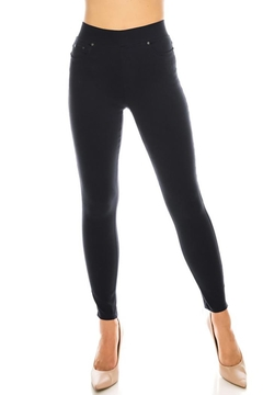 Shoptiques Product: Twilled Fabric Pull On Jegging Pants