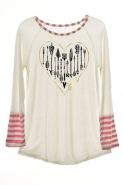 Color Bear Heart-Of-Arrows Print Tee - Product Mini Image