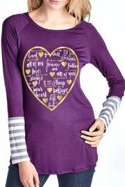 Color Bear Heart Striped Tee - Product Mini Image