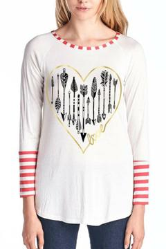 Color Bear Heart Striped Tee - Alternate List Image