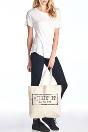 Color Bear Canvas Tote - Back cropped