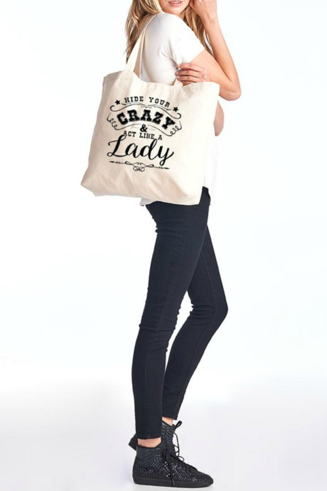 Color Bear Canvas Tote - Front Full Image