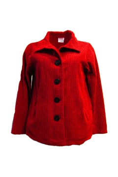 Color Me Cotton Red Chenille Jacket - Product List Image