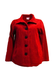 Color Me Cotton Red Chenille Jacket - Product Mini Image