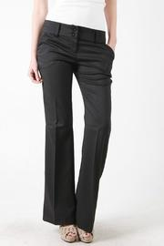 Color Swatch Basic Trouser Pant - Front cropped