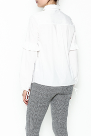 Color Thread Button Down Shirt - Back cropped