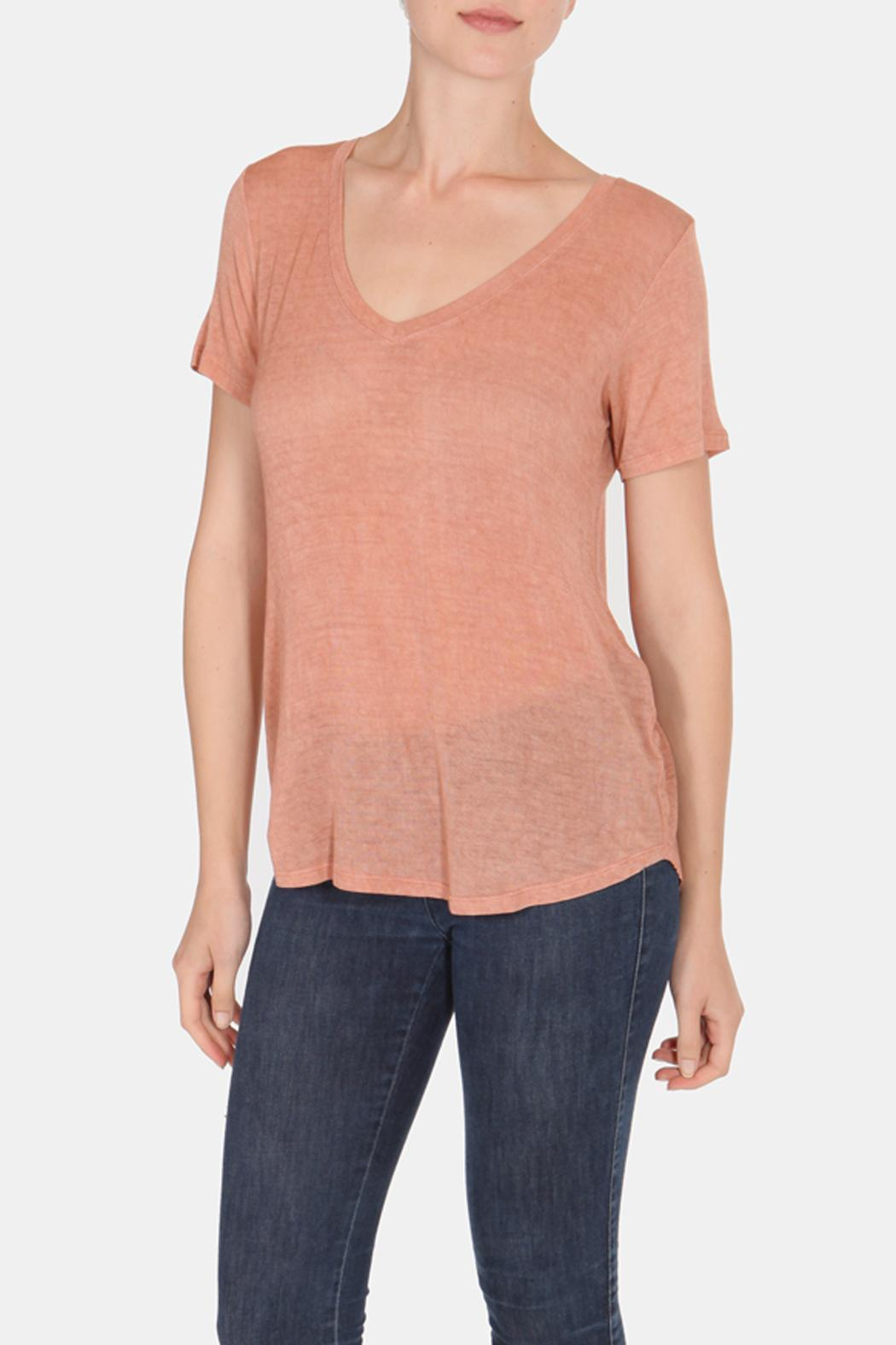 Color Thread Classic Boyfriend Tee - Front Cropped Image