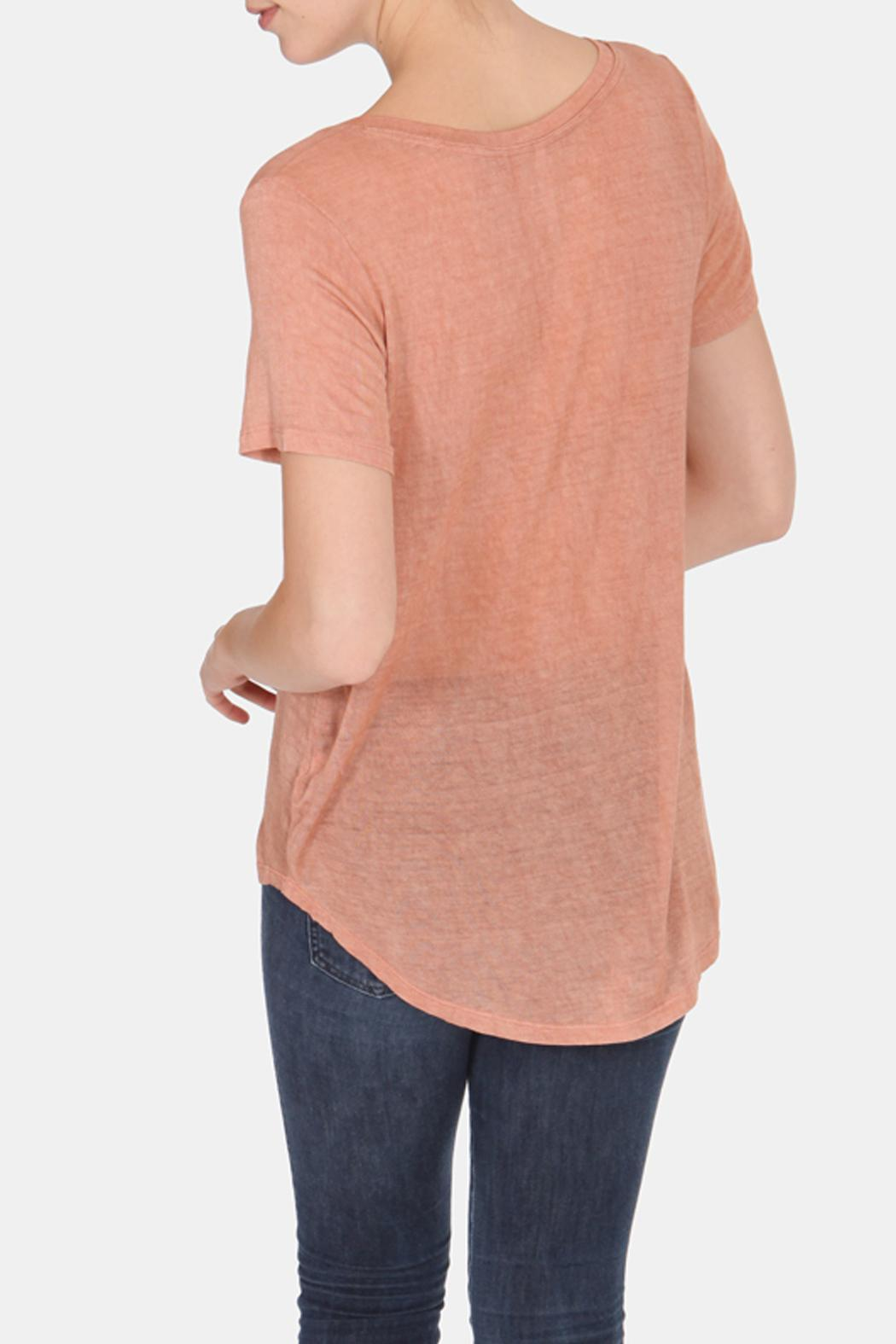 Color Thread Classic Boyfriend Tee - Side Cropped Image