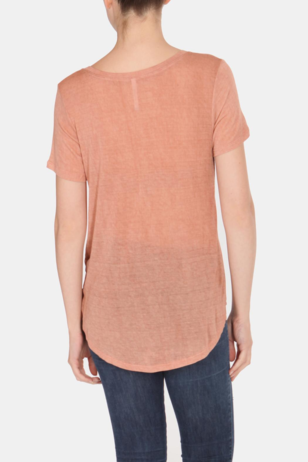 Color Thread Classic Boyfriend Tee - Back Cropped Image