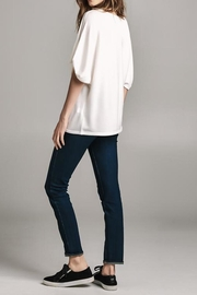 Color Thread Gathered Sleeve Top - Side cropped