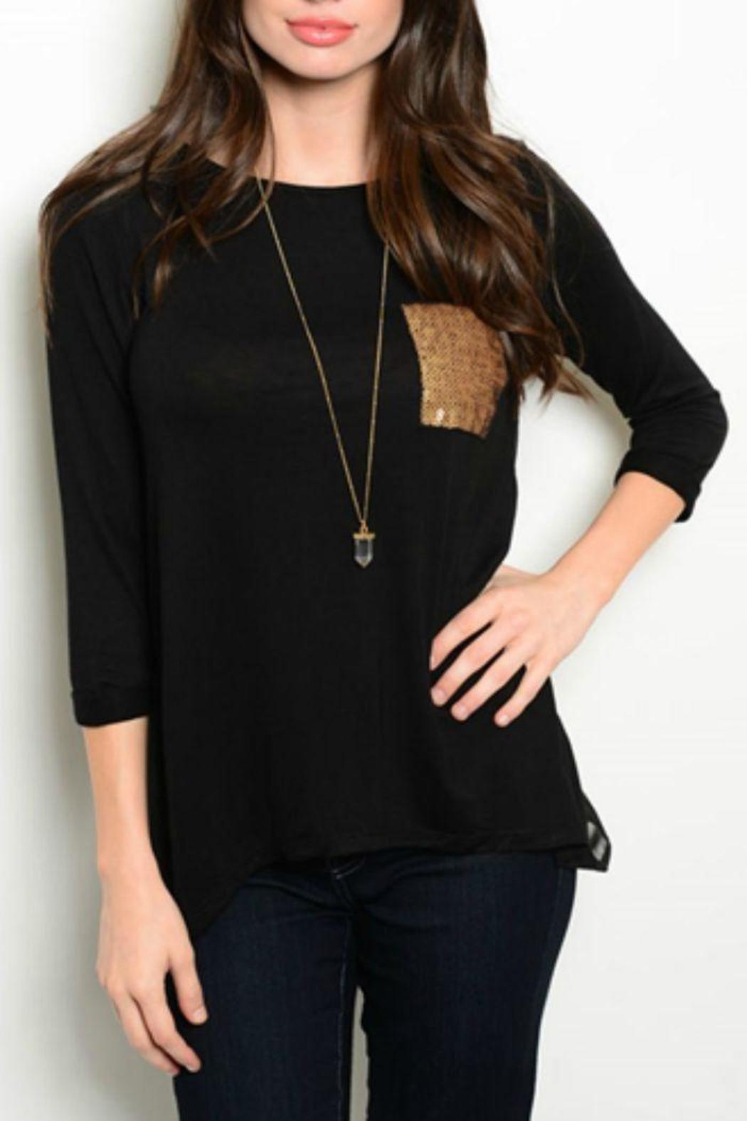70c9aaf9366 Color Thread Gold Sequin Pocket Tee from Texas by Ooh La La Boutique ...